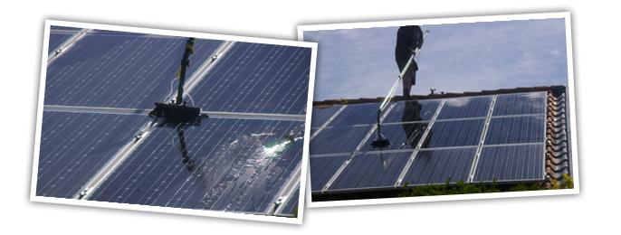 Rengøring af solceller